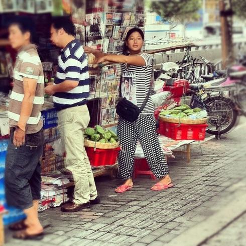 Vendeuse lotus Pudong