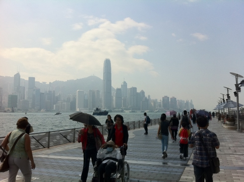 Going from Kowloon to Hong Kong island