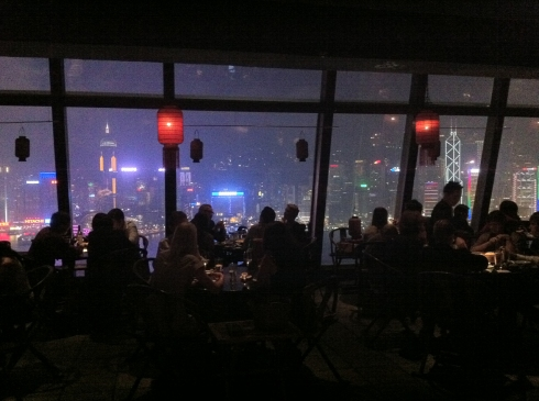Dinner at Hutong on Kownloon