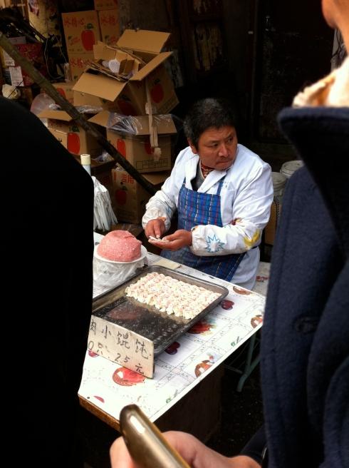 Hand-made pork dumplings