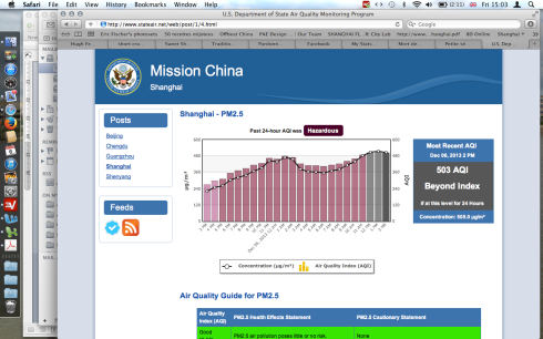 The US Consulate AQI reading today