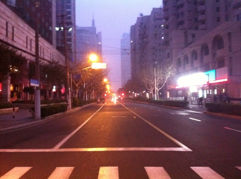 Jiangning Lu, normally really busy at this time of the day